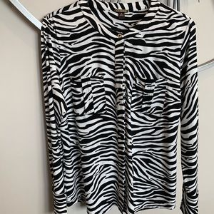 Dana Bachman Zebra Print Top Medium